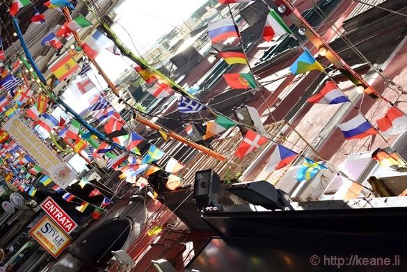 Flags in the Quartieri Spagnoli