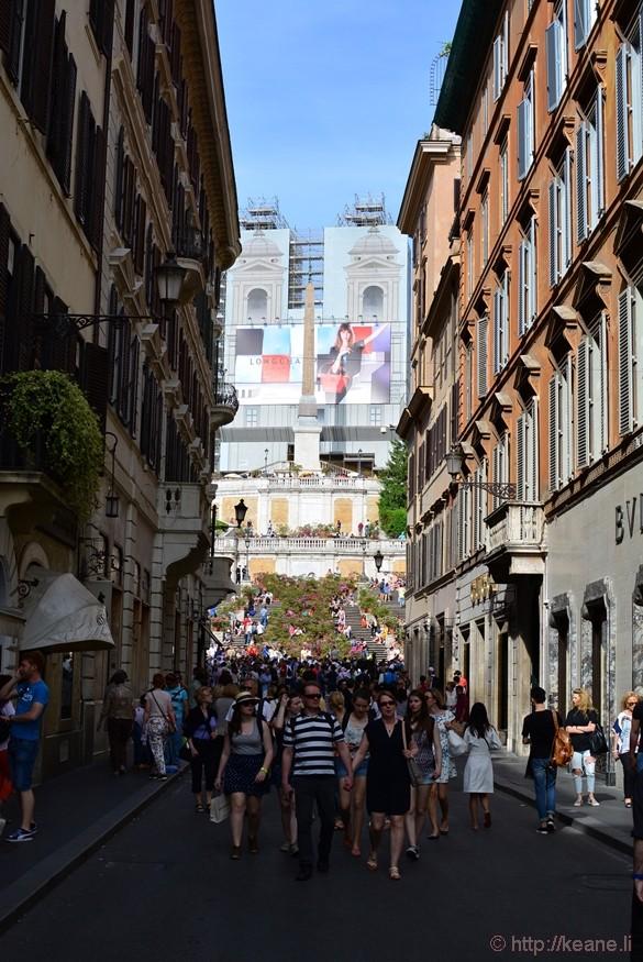 Via dei Condotti and the Spanish Steps