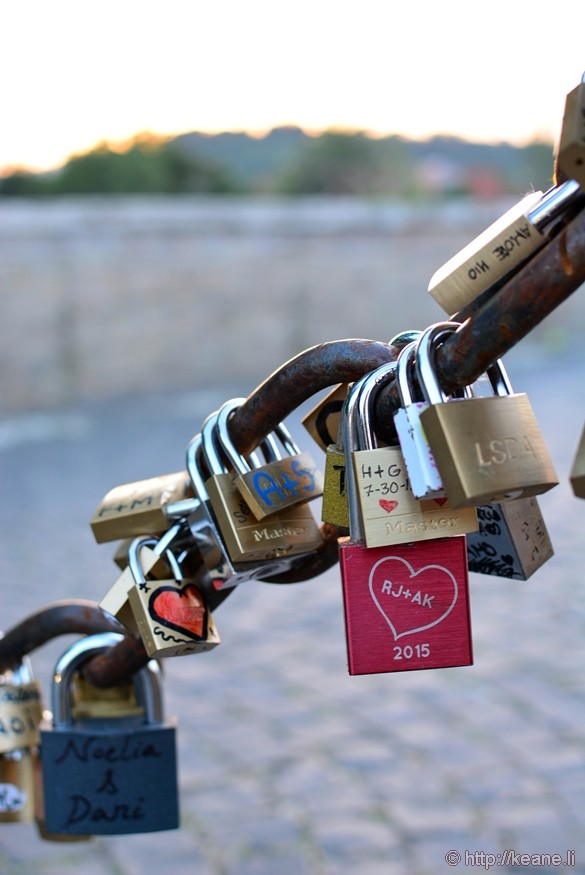 Love Locks on Ponte Milvio