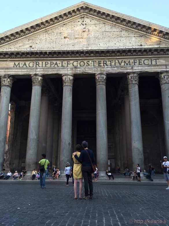 Couple in Front of the Pantheon in Rome