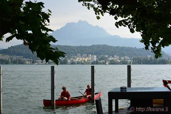 Mount Pilatus and Lake Lucerne