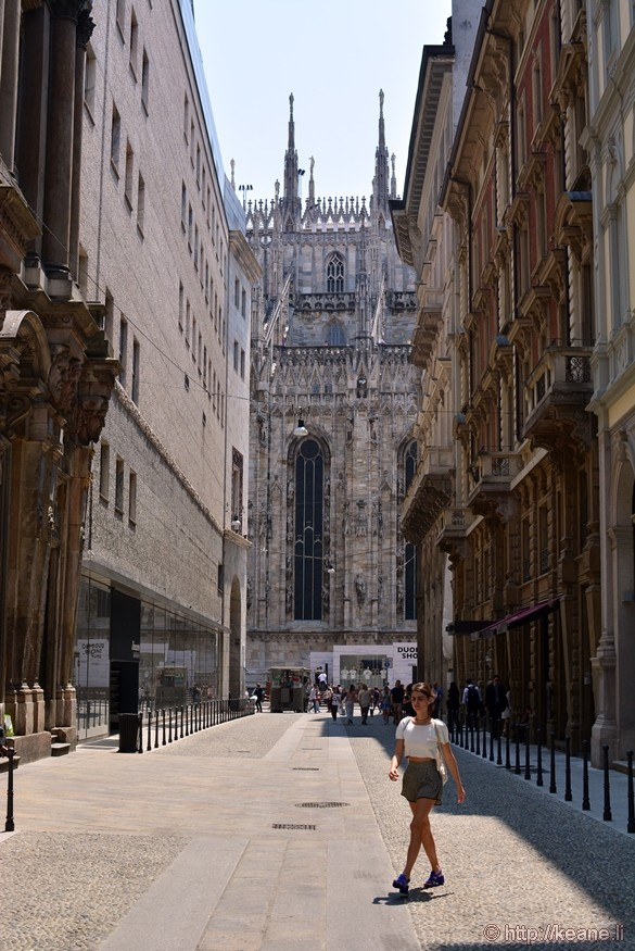 Girl by Duomo in Milan