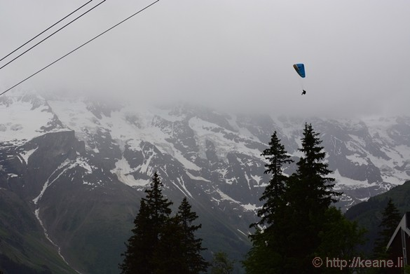 Base Jumper Over the Lauterbrunnen Valley