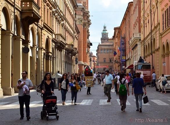 Via dell'Indipendenza in Bologna