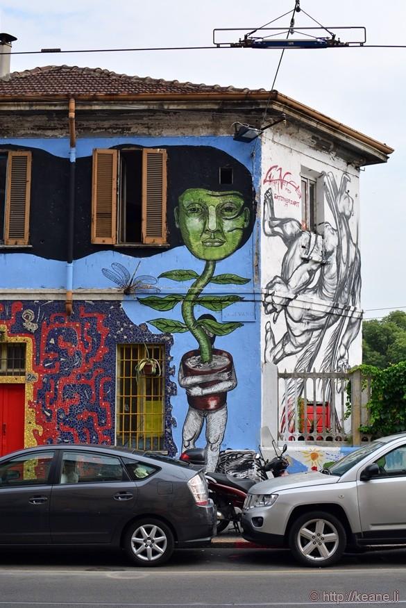 Street Art in Navigli in Milan