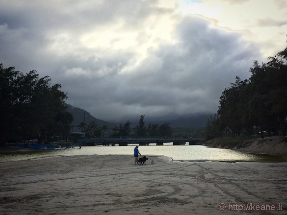 Oahu – Stormy weather at Kailua Beach Park – Keane Travels