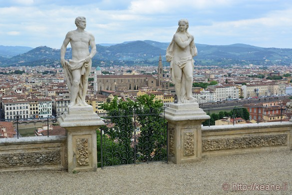 View from the top of Giardino Bardini