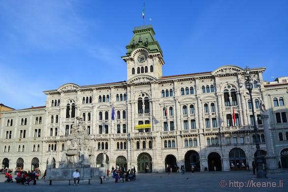 Palazzo del Municipio and the Fontana dei Quattro Continenti in the Piazza Unità d'Italia