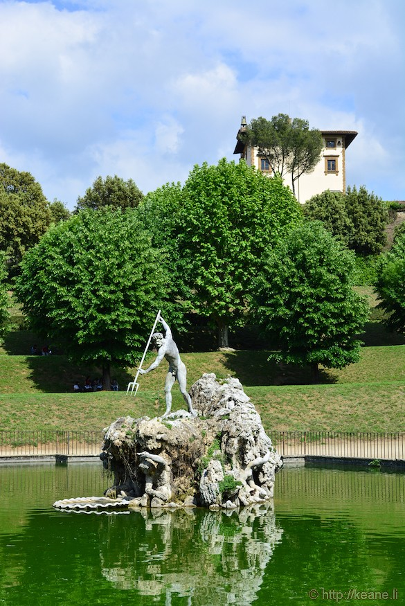 Statue of Neptune in the Giardini di Boboli