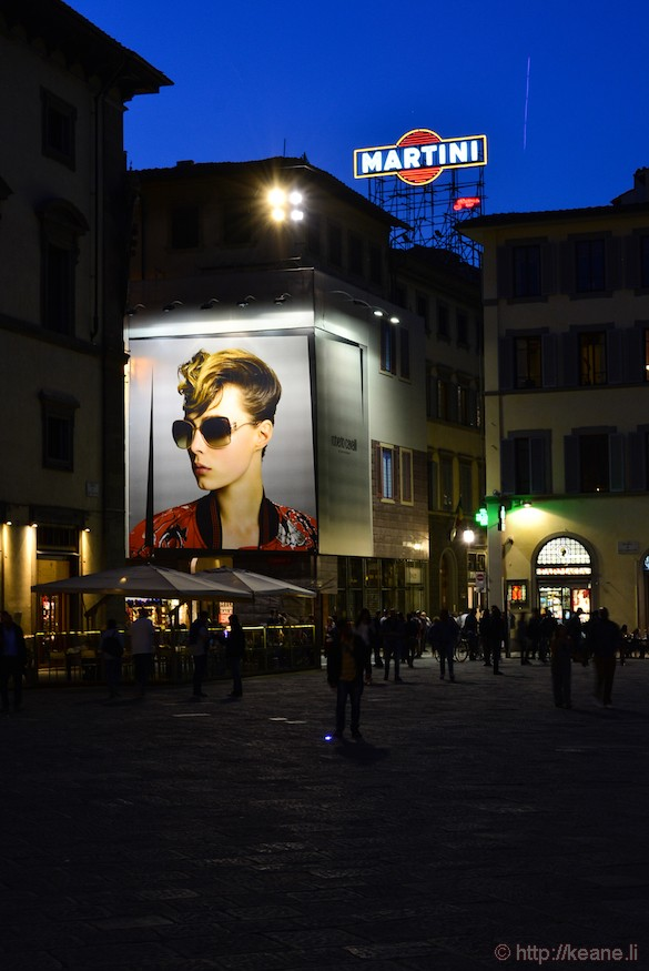 Advertisements in Florence's Centro Storico