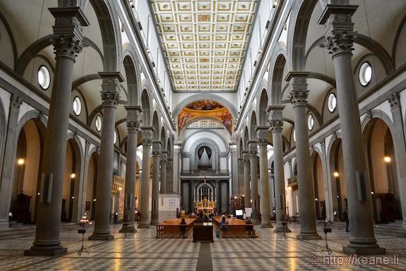 Inside the Basilica di San Lorenzo