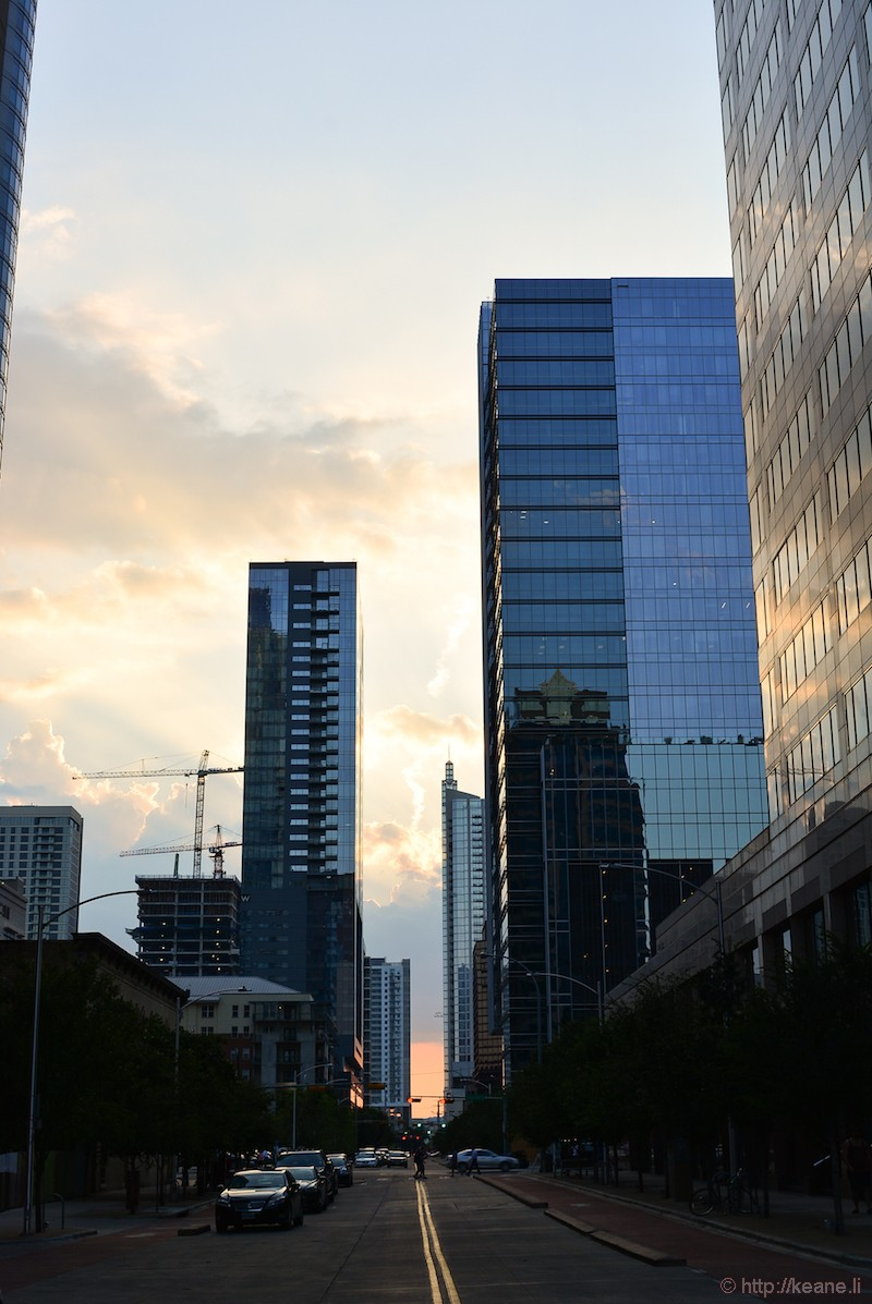 Sunset in Downtown Austin