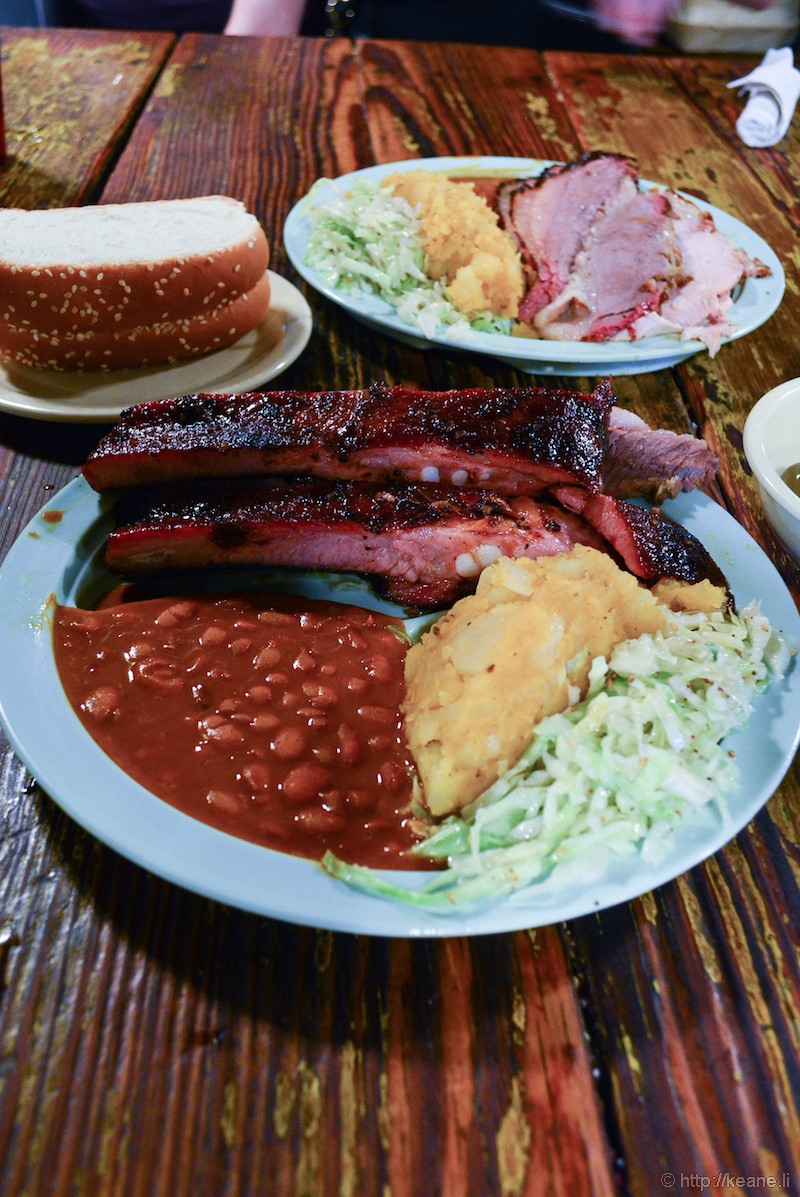 Barbecue at the Salt Lick in Texas