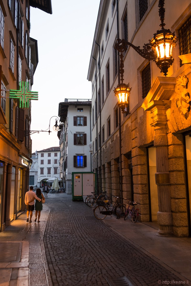 Streets of Udine at Night
