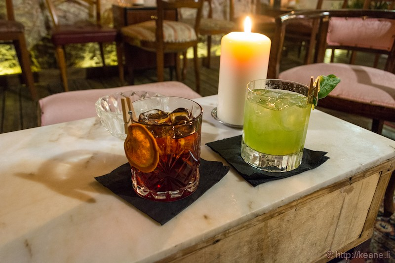 Craft Cocktails from Osteria alle Volte in Udine