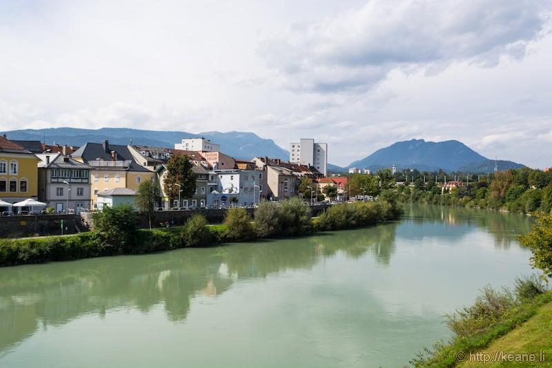 Drava River in Villach, Austria