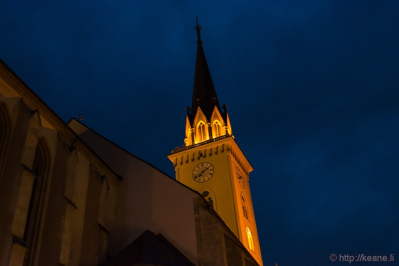 Villach Parish Church St. Jakob at Night