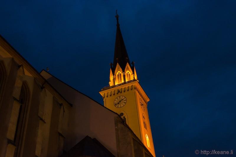Villach Parish Church St. Jakob at Night
