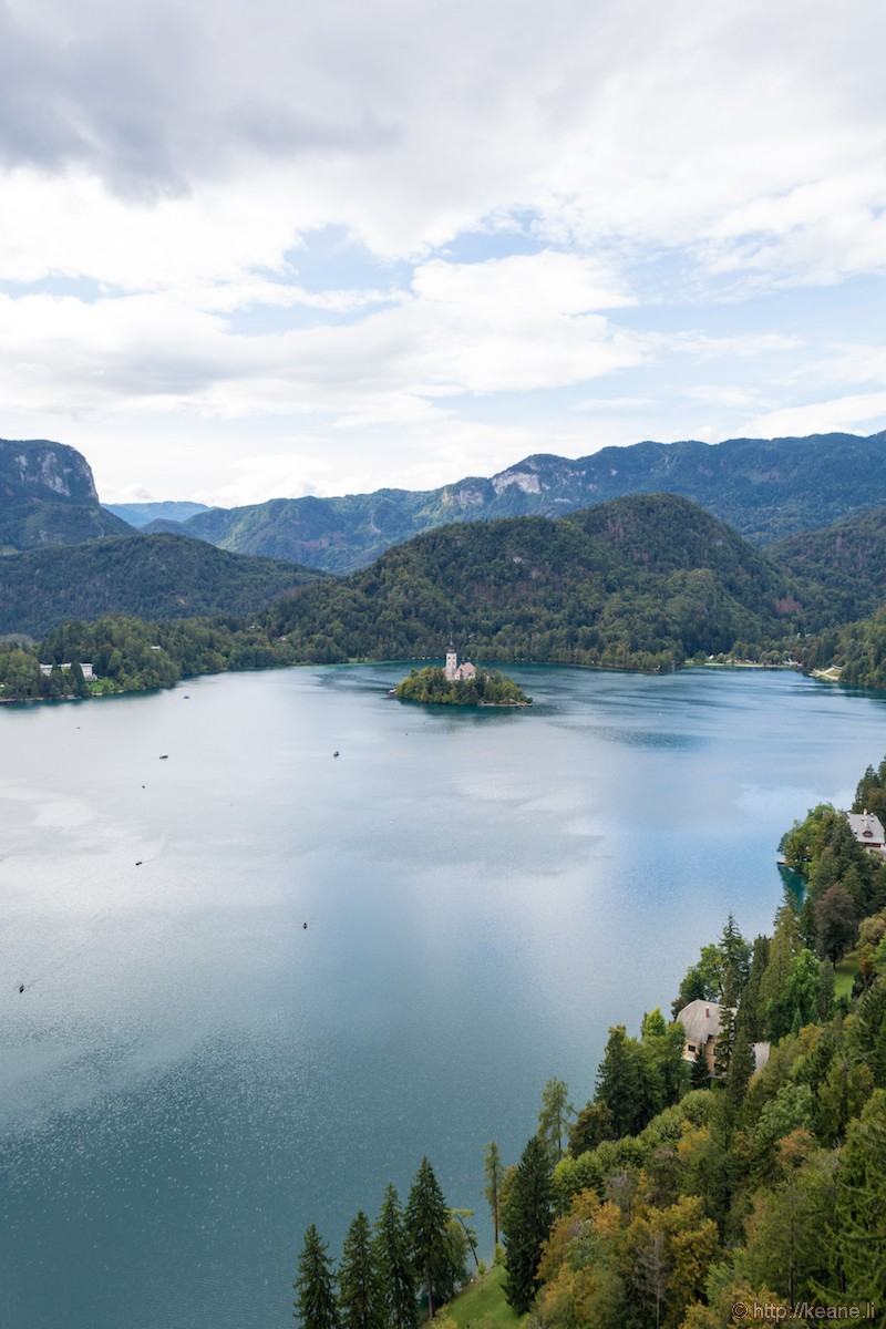View from Bled Castle