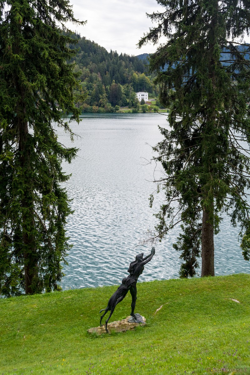 Sculpture Along Lake Bled