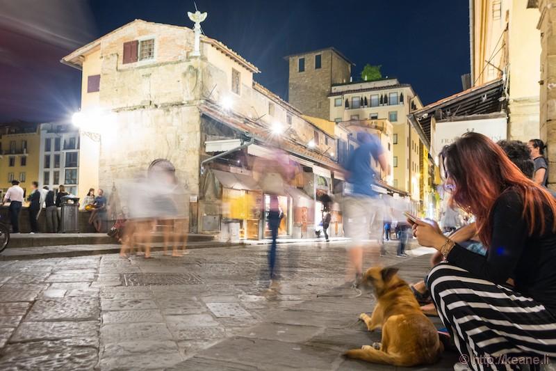 Ponte Vecchio Ghosts at Night