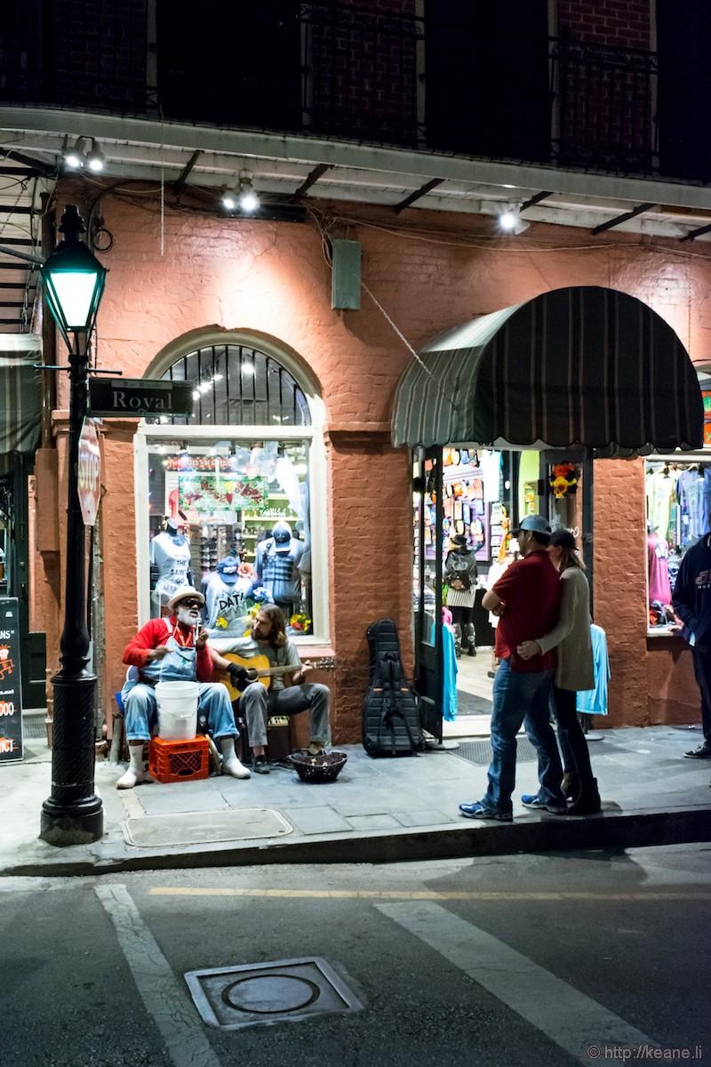 Bluesman on Royal Street