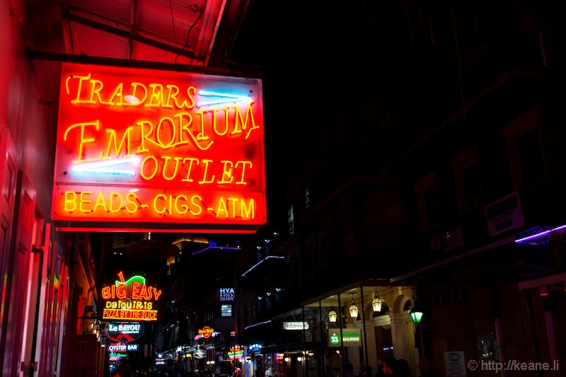 Neon Lights on Bourbon Street