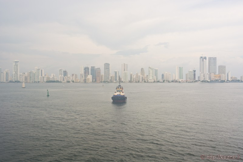 Pulling Into Cartagena, Colombia