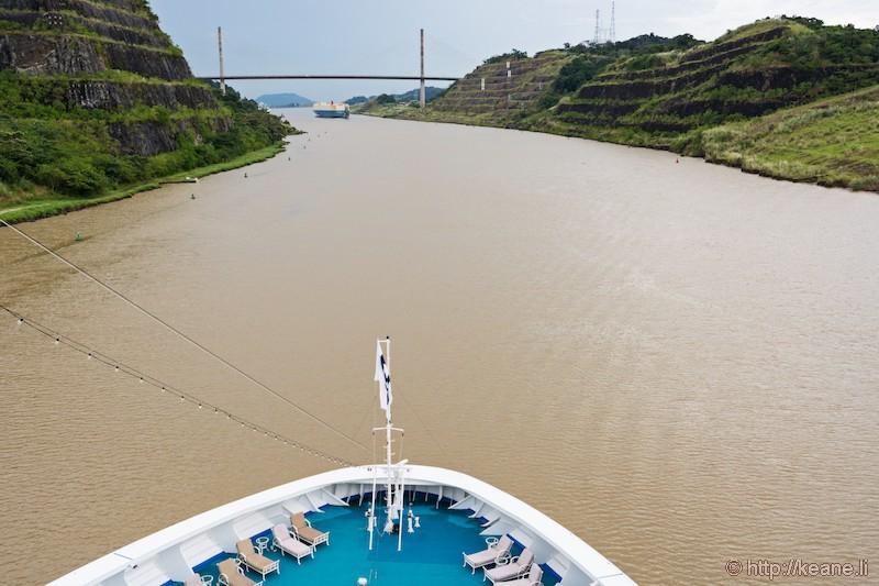 Approaching the Centennial Bridge in Panama