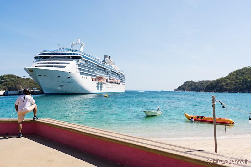 Island Princess Docked at Huatulco, Mexico