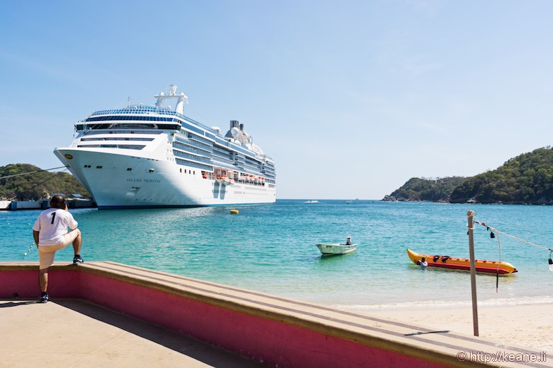 Island Princess Docked at Huatulco, Mexico