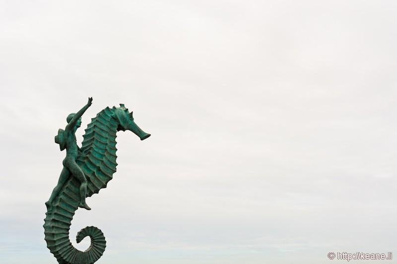 Seahorse Statue in Puerto Vallarta, Mexico