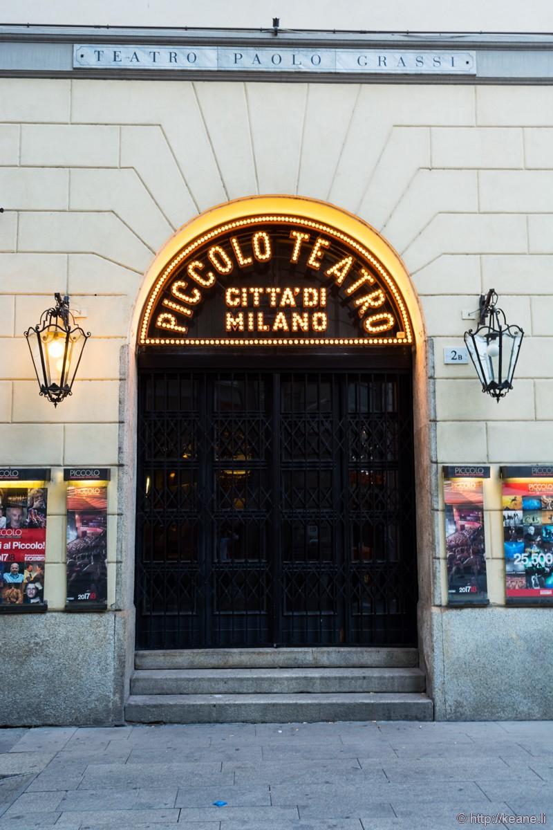 Piccolo Teatro in Milan