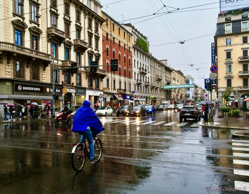 Rainy Corso Buenos Aires in Milan