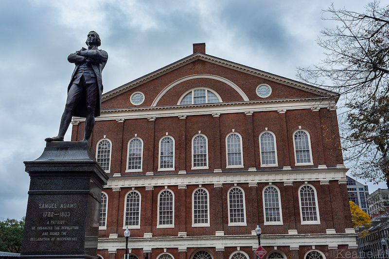 Samuel Adams Statue and Faneuil Hall