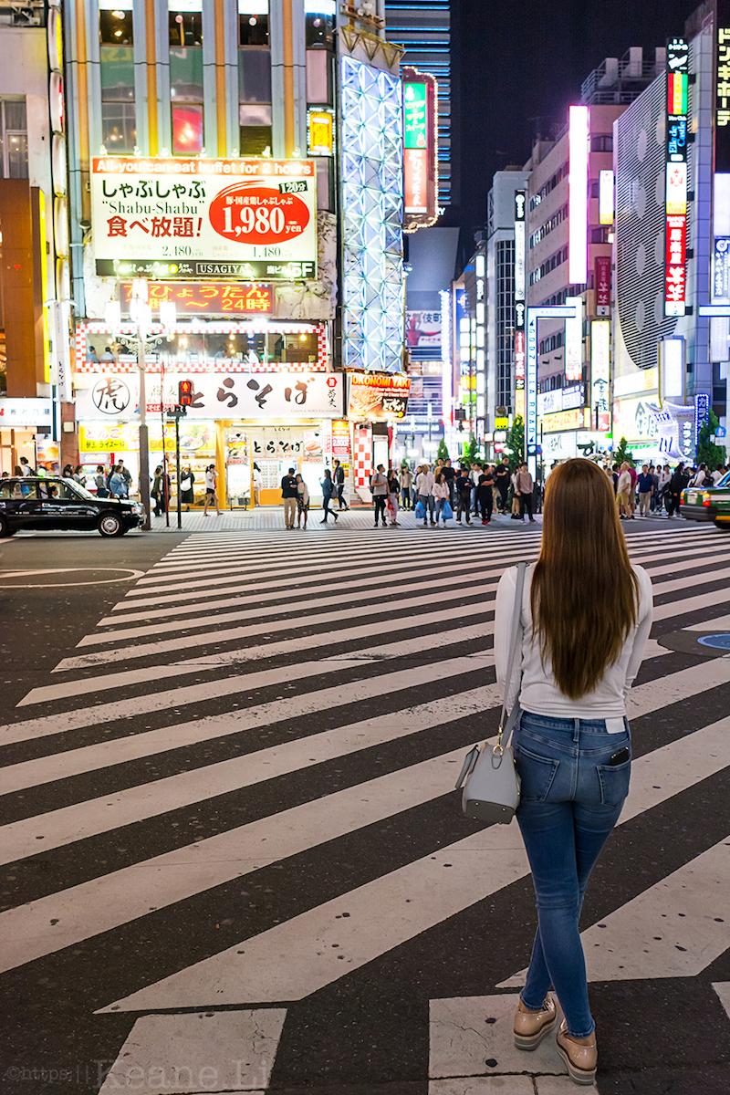 Night lights in Tokyo's Shinjuku