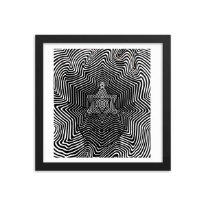 Meditation Vibes – Framed Print