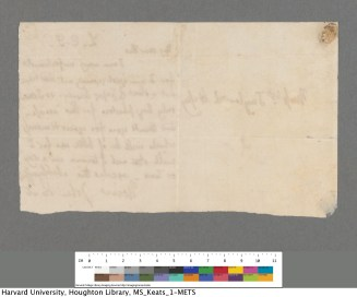 The reverse side of the letter.