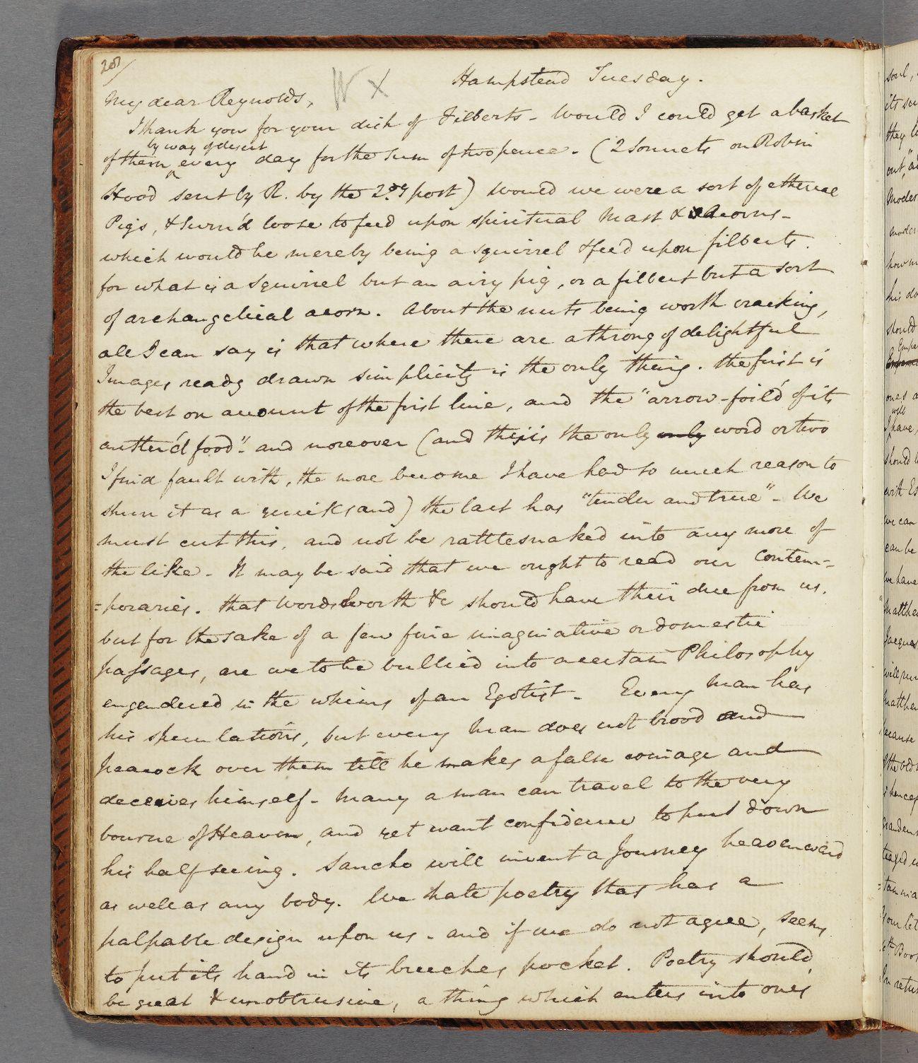 Letter #51: To John Hamilton Reynolds, 3 February 1818 – The