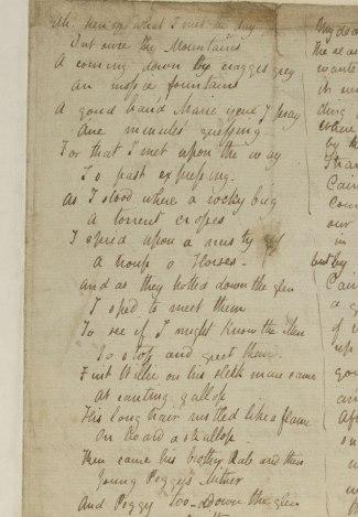 "Keats's poem, ""Ah! ken ye what I met the day."""