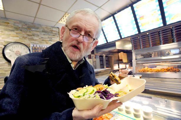 Kebabárny o kebabu víme vše Jeremy Corbyn s kebabem