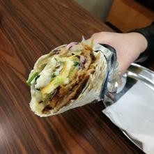 Průřez Haloumi kebabem - Istanbul kebab, Dráždany