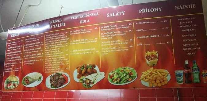 Nabídka - Antalya kebab Nusle