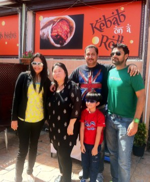 Winner Jenny & family with Neil & Shruti