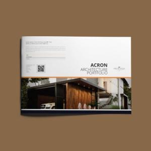 Acron Architecture Portfolio A4 Landscape