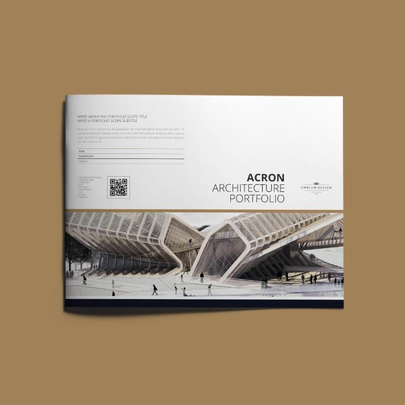 Acron Architecture Portfolio US Letter Landscape