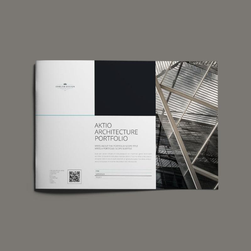 Aktio Architecture Portfolio A4 Landscape