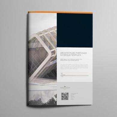 Architecture Portfolio A4 Bifold Template – kfea 3-min