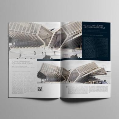 Architecture Portfolio A4 Bifold Template – kfea 4-min