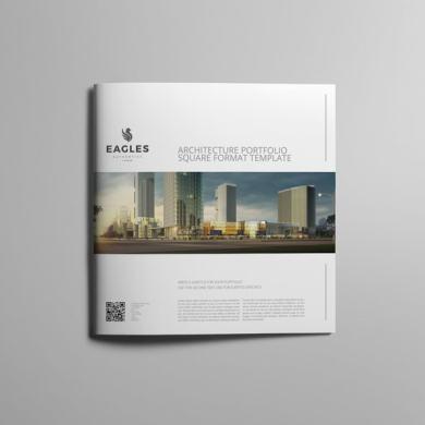 Architecture Portfolio Square Format Template – kfea 1-min